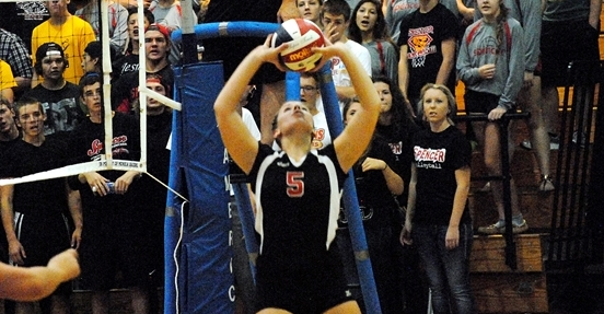 Sadie Mercier volleyball columbus catholic dons spencer rockets setter