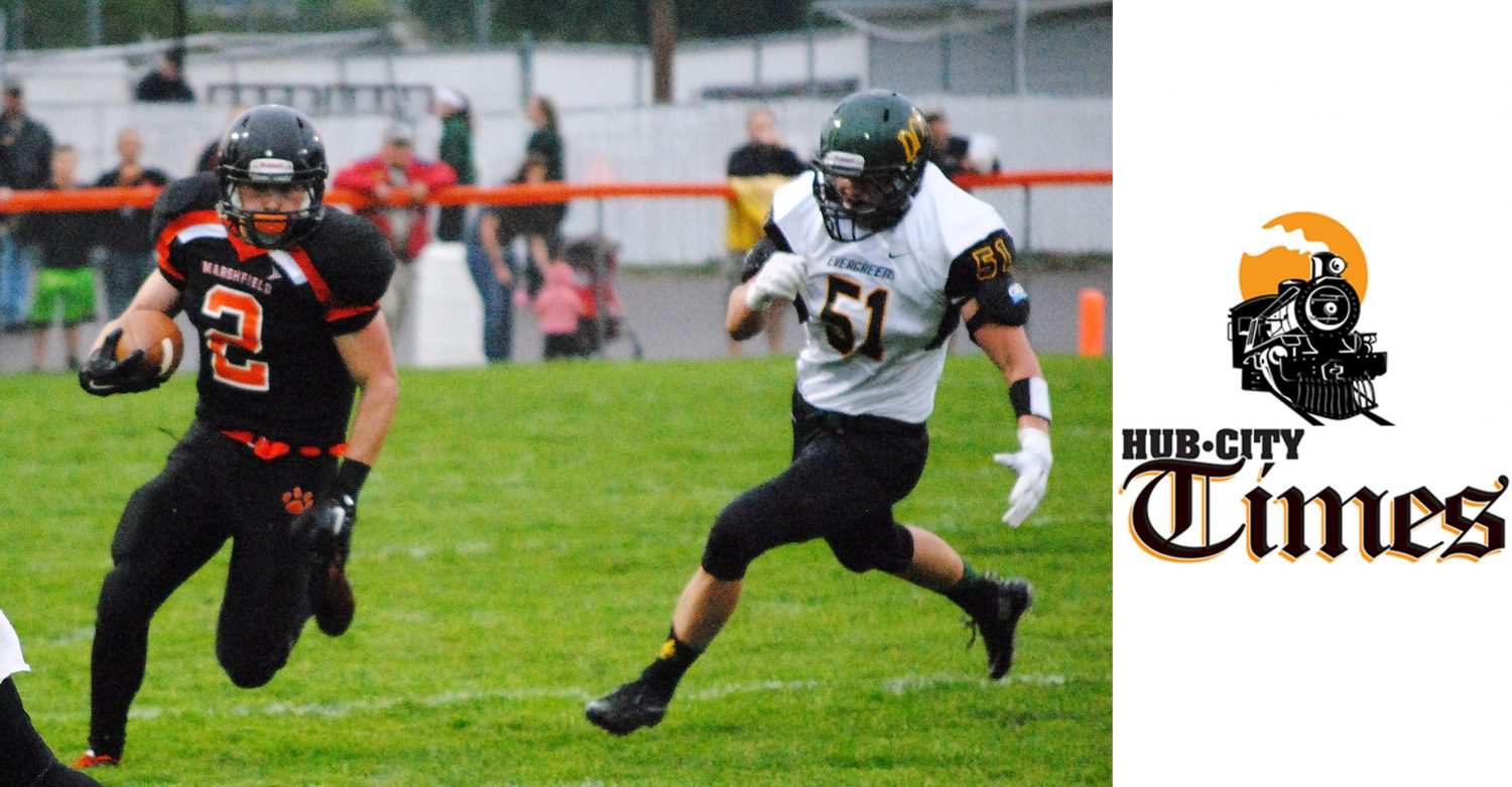 Marshfield Tigers senior running back Nick Hoheisel was one of four local players selected to play in the Wisconsin Football Coaches Association all-star football games in Oshkosh on July 16.