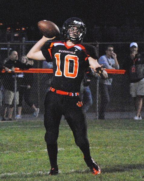 Marshfield junior Ryan Krueger returns to the quarterback position for the Tigers this season.