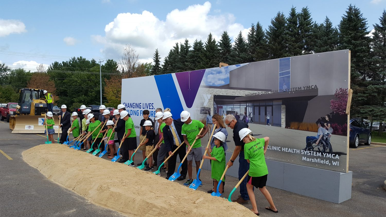 An official groundbreaking was held Aug. 23 to mark the beginning of a nearly $16 million expansion and remodel project to the Marshfield Clinic Health System YMCA.